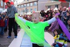 Auftritt der Kinder-Turngruppe beim Weidener Frühlingsfest