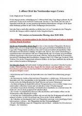 Dritter offener Brief des Vorsitzenden bezüglich Corona